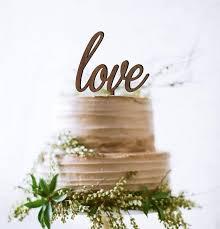 wedding cake topper luxury walnut wood love cake topper