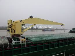 hydraulic single jib crane for port and offshore application with