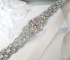wedding sash rhinestone belt for wedding dress beaded bridal sash