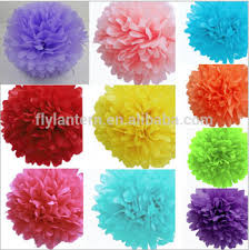 Yellow Pom Pom Flowers - christmas tree decorations 12 u0027 u0027tissue paper pom poms flower balls