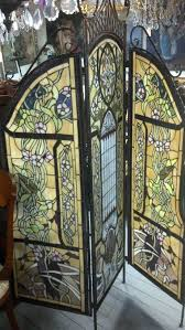 Antique Room Divider Stained Glass Room Divider Screen Stained Glass Screen Divider By