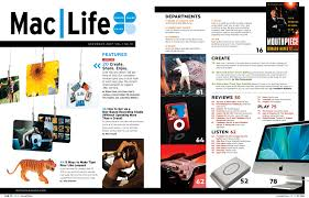 layout magazine app maclife magazine table of contents layout designclaire