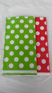 red white polka dot table covers christmas color theme white polka dot table cover party