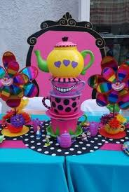 Mad Hatter Tea Party Centerpieces by Alice In Wonderland Birthday Party Ideas Alice Birthdays And