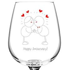 happy glass happy anniversary wine glass 12 75 oz made in usa 315products
