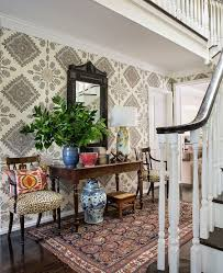 california style home decor 25 gorgeous entryways clad in wallpaper