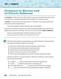 commas in series and in direct address worksheet lesson planet