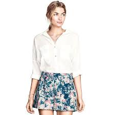 H M Draped Blouse 10 Stylish Ways To Wear Short Shorts Whowhatwear