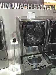 Front Load Washer With Pedestal Ces 2015 Lg Mini Washer Pedestal Lets You Do Two Loads Of Laundry
