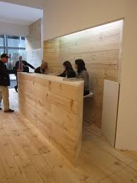 Industrial Reception Desk by Stand Up Reception Yin Yang Space Carved Behind Desk To Capture