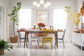 target dining room tables target table setting emily henderson mid century modern dining