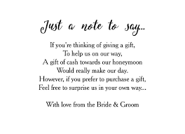 wedding gift donation to charity wedding gift charity donation poem lading for