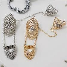 fashion long rings images New fashion women long chain ring luxury artificial cz wide rings jpg