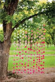 String Of Flower Lights by Wedding Decor Idea Single Flowers On Strings But Vary The Shades