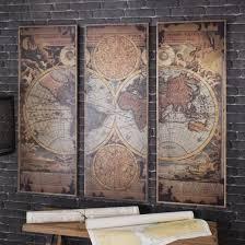 rustic wood artwork buy leclerc world map panel artwork rustic wood atlas wall