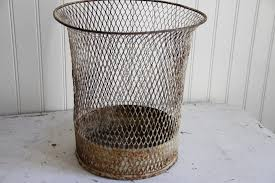white wire house waste basket omero home