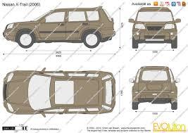 nissan x trail 2006 the blueprints com vector drawing nissan x trail