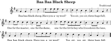 Three Blind Mice Piano Notes Baa Baa Black Sheep Wikipedia