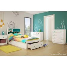 kids storage bedroom sets south shore little monsters 1 drawer pure white twin size storage