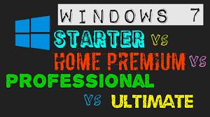 hindi windows 7 starter vs home premium vs professional vs