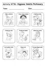 personal hygiene worksheets for kids 1 health pinterest