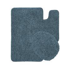 Bathroom Carpets Rugs Layla Oversized 3 Shaggy Bathroom Rug Set Bath Mat Contour