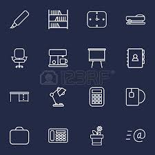 telephone bureau set of 16 bureau outline icons set collection of telephone staple