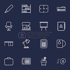 telephone bureau set of 16 bureau outline icons set collection of telephone staple