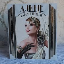 art deco greetings card auntie happy birthday debbi moore designs