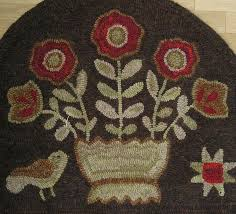 Wool Hand Hooked Rugs 509 Best Rug Hooking Images On Pinterest Penny Rugs Primitive