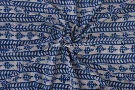 Material For Upholstery Ethnic Block Print Jaipuri Fabric By Yard Cotton Voile Material