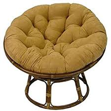 amazon com rattan papasan chair with cushion kitchen u0026 dining