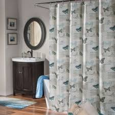 Blue Butterfly Curtains Buy Bright Blue Shower Curtains From Bed Bath U0026 Beyond