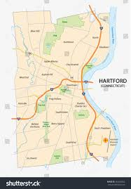 State Capitol Map by Road Map Hartford Capital Us State Stock Vector 362404652