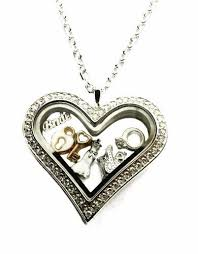 charm locket necklace charms images Stainless steel heart floating charm locket necklace with wedding jpg