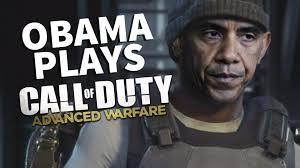 obama plays call of duty advanced warfare youtube