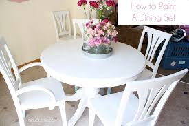 How To Set A Dining Room Table A Bubbly Lifehow To Paint A Dining Room Table Chairs Makeover