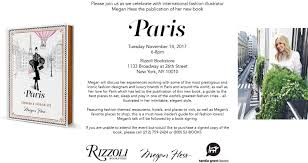 paris with megan hess rizzoli bookstore