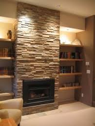 Bookcase Fireplace Designs Love The Stone Fireplace With The White Built Ins Similar Layout