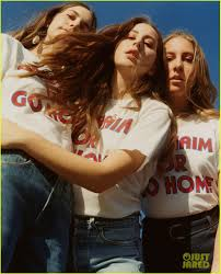 haim poster haim model their new outfitters merch collection