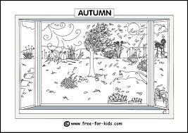 4 seasons coloring pages printable four page for omeletta me