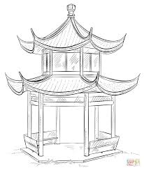 chinese pagoda coloring page free printable coloring pages
