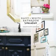 Navy And White Bathroom Ideas - navy and white bathroom renovation u2013 craftivity designs