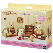 Sylvanian Families Living Room And TV Set Furniture  Accessories - Sylvanian families living room set