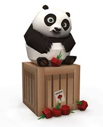 baby po radish crate kung fu panda 2 papercraft