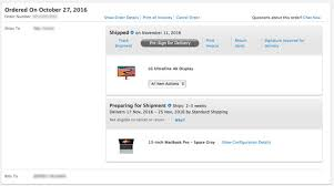 macbook pro black friday apple ships first lg ultrafine 4k display orders ahead of macbook