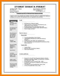 8 sample of biodata childcare resume