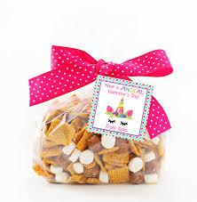 party favors magical unicorn tag printable treat bag