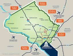 washington dc region map about montgomery county md must see in dc