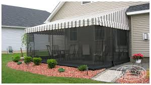 Retractable Awning With Screen Screens For Patio Awnings Kohler Awning